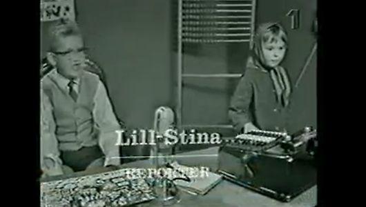Lill-Stina på reportage julkalender 1964