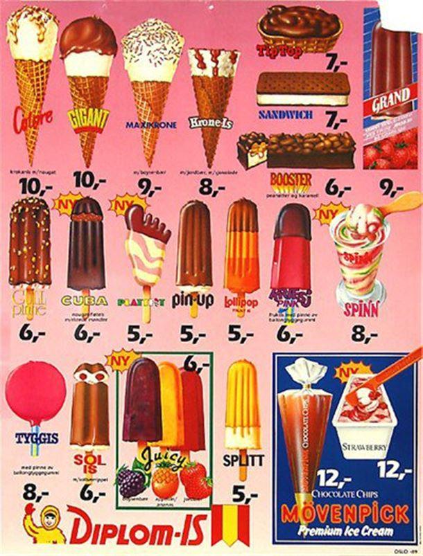 15 år gammel snart i 1990, og antagelig ikke like heftig på isfronten lenger. Likevel kjøper jeg gjerne en is eller to selv den dag i dag!